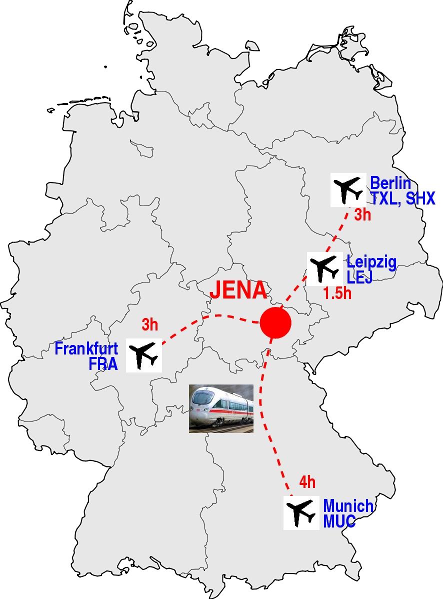 Jena Germany  city images : Jena Germany Map